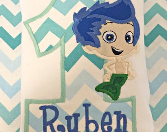 Bubble Guppies Inspired Gill Birthday Shirt