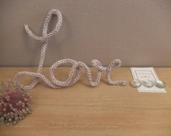 "Wool knitting ""Love"""