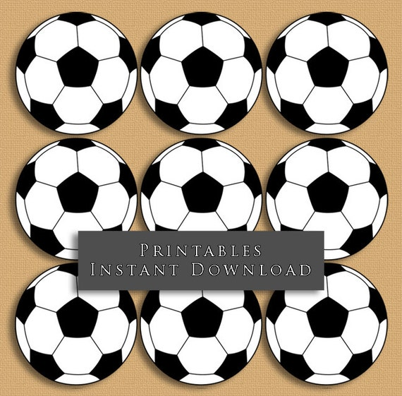 2.5 Soccer Ball Printable Cupcake Toppers Sports Theme