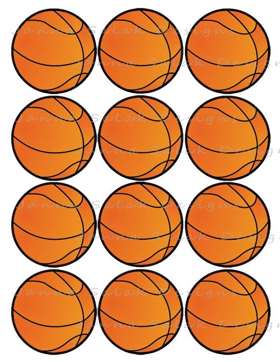 Punchy image inside printable basketball
