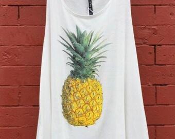 Summertime Flowy Pineapple Tank