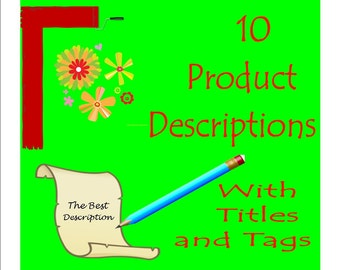 10 Descriptions With Titles and Tags/Keywords