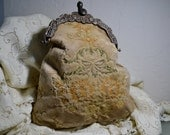Victorian Clasp Carpetbags of America Purse Signed MWG