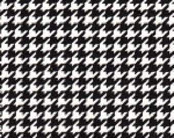 Houndstooth, Black and White Houndstooth 100% Cotton Fabric