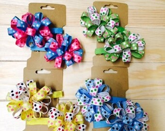 Cute barrettes and hair bows for your little Princesses