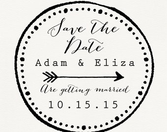 Custom Save the Date Stamps - Save the date stamps - Save the date - Wedding Stamps - Wedding save the date stamp