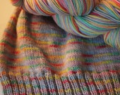 After The Storm There's Always A Rainbow / Variegated/ Sock Yarn / SW Merino + Nylon