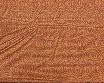 Fabri-quilt Color Program Brown and Rust swirl fabric, 100% cotton, pattern ~50