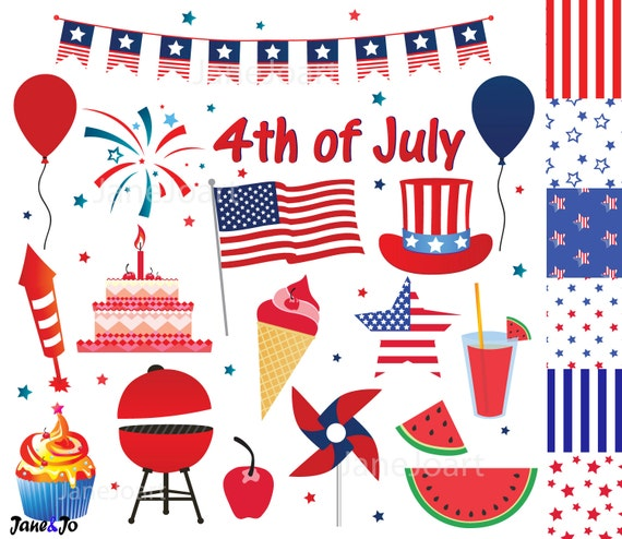 4th of July clipart Fourth of July clip art Independence