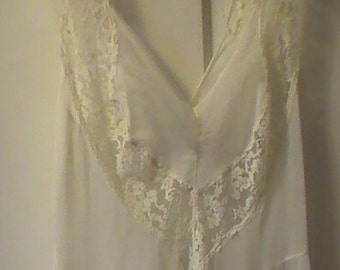 Vintage White Nightgown From The 1950's