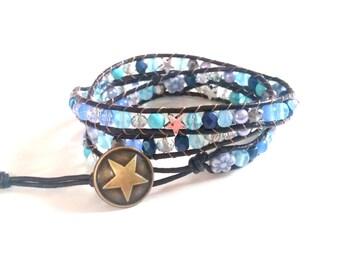 Wrap bracelet EYECATCHER blue