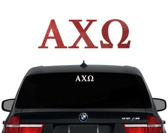 AXO Alpha Chi Omega Greek Letters Sorority Decal Laptop Sticker Car Decal