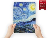 ipad air 2 case leather smart cover starry night for ipad mini ipad air 1 2 3 retina display oilpainting-08starrynight