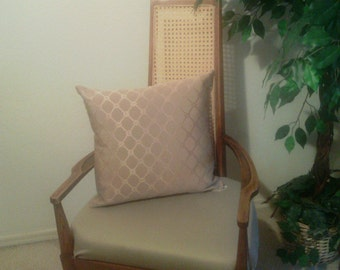 Wheat Gold Fabric Pillow #07