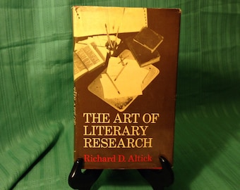 1963 - First Edition - The Art of Literary Research - Richard D. Altick
