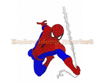 crawling spiderman Embroidery Design 5 sizes Instant Download