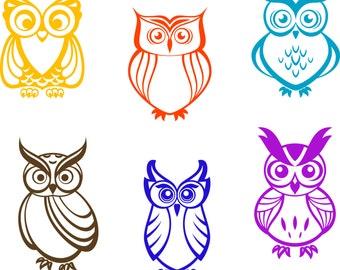 DIGITAL DOWNLOAD Owls Vector Kits