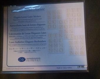 Creative Memories Elegant Laser Letter Stickers
