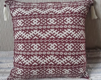Knitted pillow cover - FREE SHIPPING WORLDWIDE