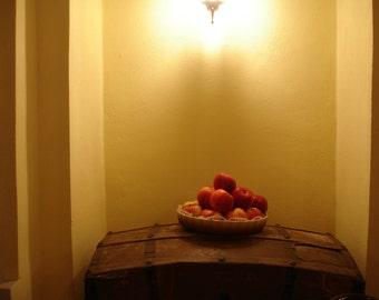 Still life with Apple, original photo: 20 x 30 cm