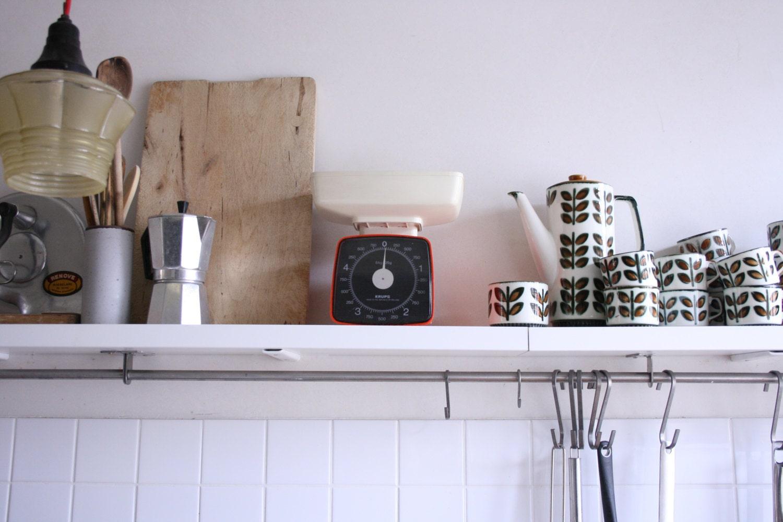 balance de cuisine vintage orange krups krups plateau de. Black Bedroom Furniture Sets. Home Design Ideas