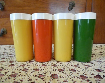 Vintage Plastic Drinking Glasses NFC Brand Made in the USA