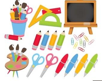 Back To School Digital Clipart, Pencil Clipart