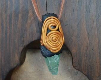 Celtic Tribal Crystal Necklace