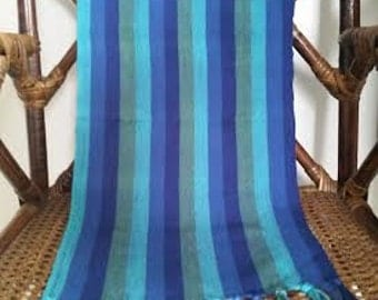 Striped hand woven scarf