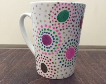 Colorful swirls mug