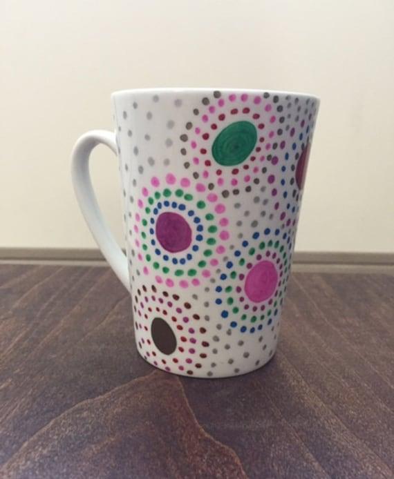 Colorful swirls mug
