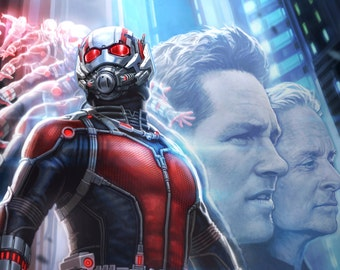 Ant_man_poster 2015 Movie 4 Sizes Silk Fabric Canvas Poster Print