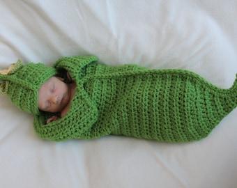 Sweet PeaPod Newborn Cocoon & Hat Crochet Pattern PDF