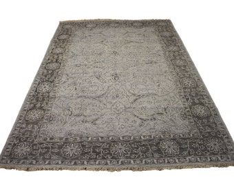 Silver Wash 6x9 Rug Vintage Persian One of a Kind 2713