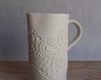 Small lace imprinted porcelainJug