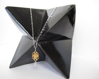 Sterling silver and 24k gold vermeil necklace