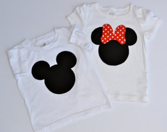 Family Mickey and Minnie Shirts . . . Perfect for a Disney Vacation or Birthday