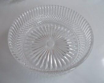 Vintage Pressed Glass Dish