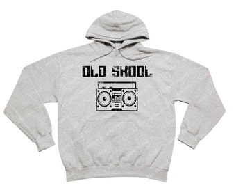 Old School Boombox - Hooded Sweatshirt
