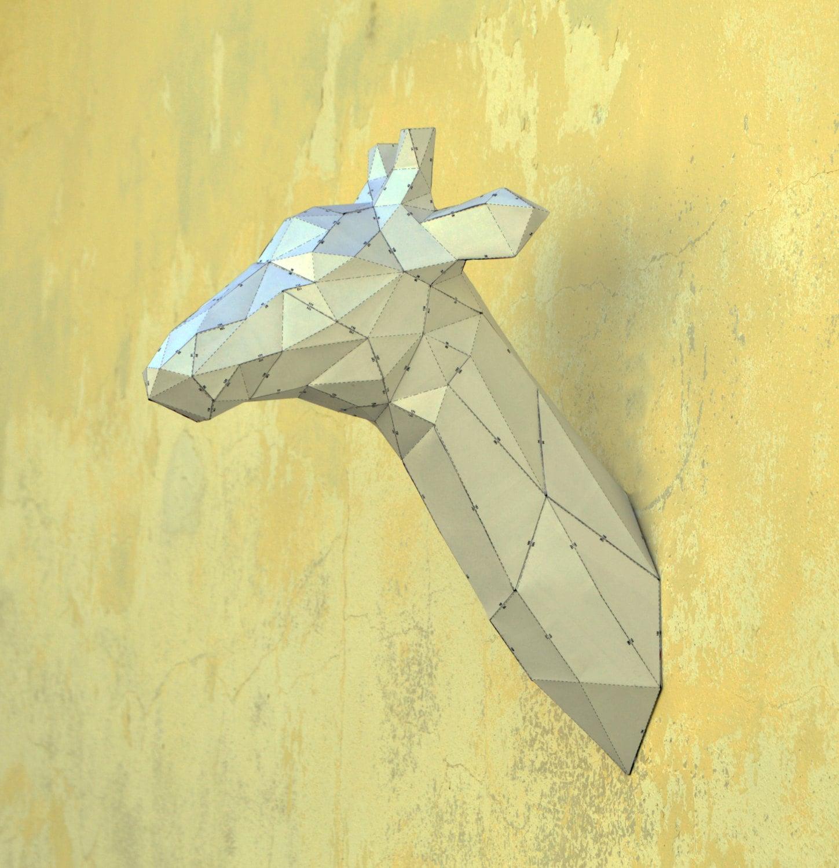 Make Your Own Giraffe Sculpture. | Papercraft Giraffe ... - photo#10