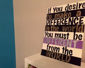 Make a Difference inspirational quote artwork