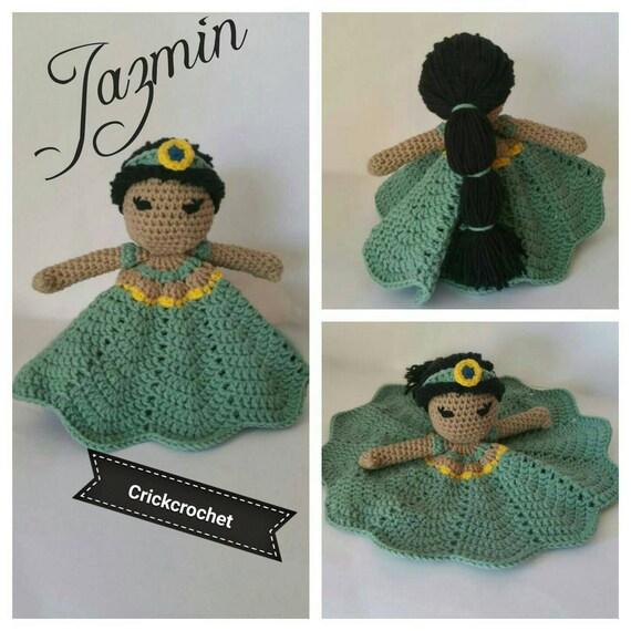 Amigurumi Dibujos Disney : Jazmin Aladin amigurumi princesas Disney princess Disney