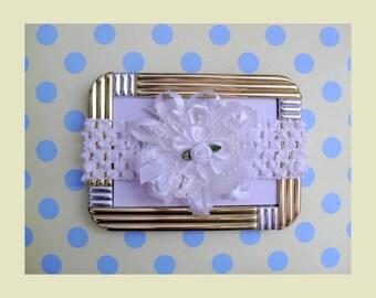 White Soft Stretch Baby Headband