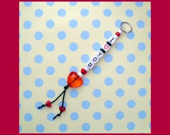 I Love You Beaded Key Chain