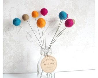Fantasy Craspedias - Billy Ball flowers - Jewel Collection