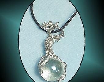 Medieval Dragon Pendant Cord 1990s Fantasy Necklace