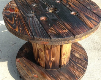 Wood Cable Spool Table