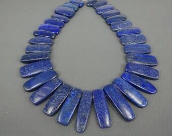 Fashion Jewelry Lapis Lazuli Pendant, Gold Plated Around--30-45pcs per line
