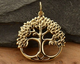 Natural Bronze Leafy Tree of Life