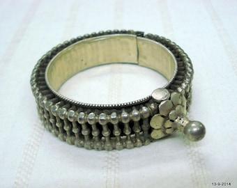 old silver bangle bracelet tribal bellydance jewelry antique vintrage old